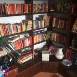 Bücher in einem Wohnzimmerschrank